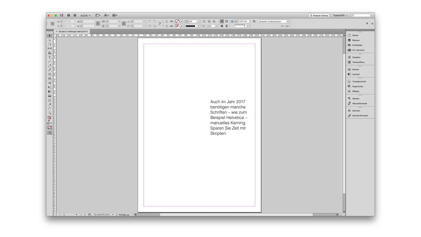 InDesign Teaser Video Styleframe