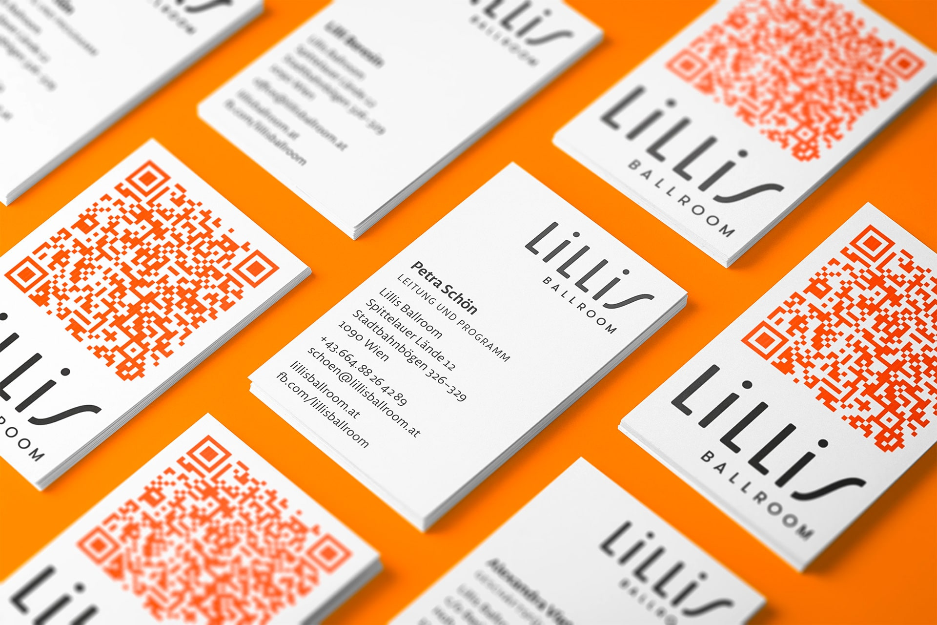 Visitenkarten Lillis Ballroom