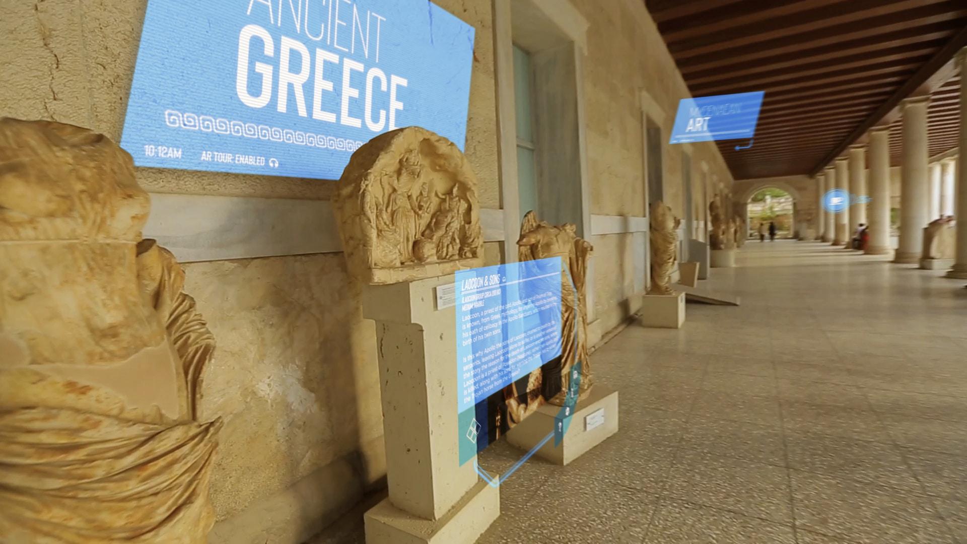Museumsbesuch mit Augmented Reality Überlagerungen
