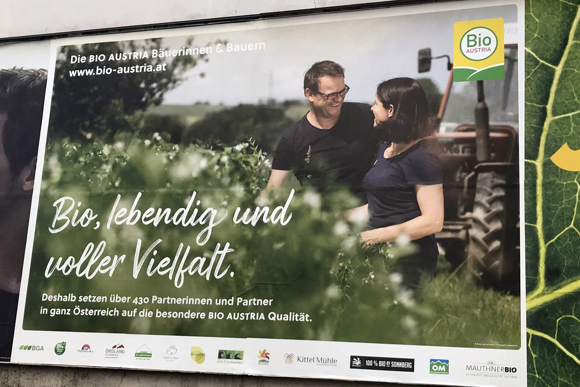 BIO AUSTRIA Plakatkampagne